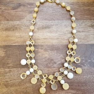 Banana Republic gold and cream statement necklace